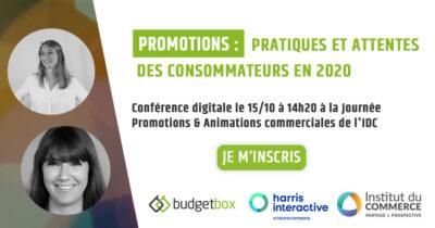 Budgetbox partenaire de la journée promotion & animation commerciale de l'idc