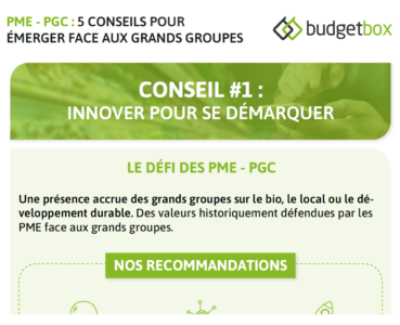 Infographie - PME PGC : 5 conseils pour émerger face aux grands groupes