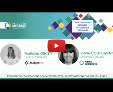 Conférence IDC - promotions en 2020 : étude harris interactive et budgetbox
