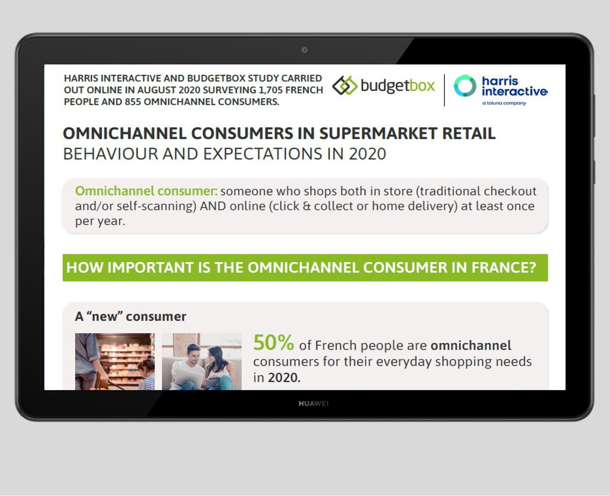 Infographic : The Omnichannel Consumer in Supermarket Retail - Survey